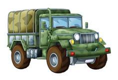Militär lastbil för tecknad film Arkivbilder