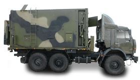 Militär-LKW lizenzfreies stockfoto