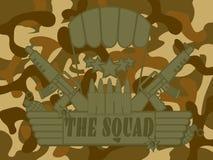 Militär logo truppen Arkivbild
