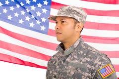 Militär man för USA royaltyfria foton