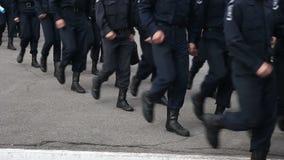 Militär marsch i ståta lager videofilmer