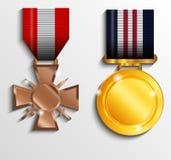 Militär medalj Royaltyfria Foton
