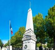 Militär minnesmärke i Paris Arkivfoto