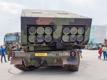 Militär MLRS-raketgevär Fotografering för Bildbyråer
