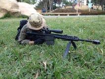 Militär modell för prickskyttbarret M82A1 scale12 Royaltyfri Bild