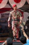 Militär modeshow Arkivfoto