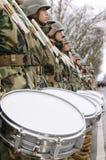 Militär musikband Fotografering för Bildbyråer