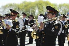 Militär musikband Royaltyfria Foton