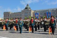 Militär musikband Arkivfoton