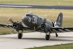 Militär nivå för Dakota C-47last Arkivbild