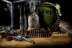 Militär-noch Leben lizenzfreie stockbilder