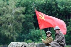 Militär odyssey på Detling Kent royaltyfria bilder