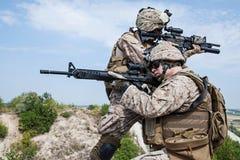 Militär operation Arkivfoto