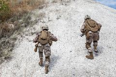 Militär operation Arkivbild