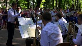militär orkester 4K arkivfilmer
