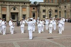 militär orkester stockholm Royaltyfri Fotografi