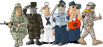 militär oss Arkivbilder