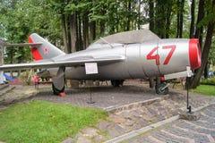 Militär plan MIG-15 Royaltyfri Bild