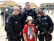 militär polisshow för luft Royaltyfri Foto