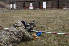 Militär prickskytt Royaltyfria Bilder