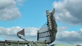 Militär radar arkivfilmer