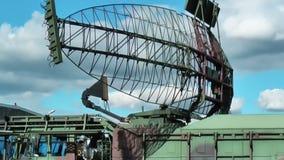 Militär radar stock video