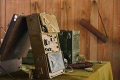 militär radiolokal för 3 kontroll Arkivbild