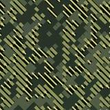 Militär rastrerad modellbakgrund för kamouflage Vektorillustration, EPS Royaltyfri Fotografi