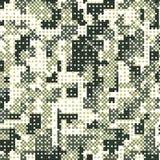 Militär rastrerad modellbakgrund för kamouflage Vektorillustration, EPS Royaltyfria Foton