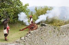 militär reenactment Royaltyfri Bild