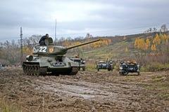 Militär rekonstruktion som ägnas för att frigöra Kiev. Royaltyfri Foto