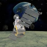 militär satellit Royaltyfri Fotografi
