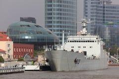 militär shanghai för porslin ship Fotografering för Bildbyråer