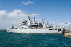 militär ship Royaltyfri Fotografi