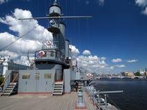 militär ship för däck Arkivfoto