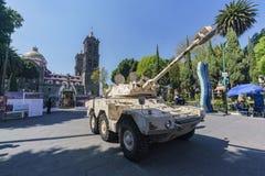 Militär show på Zocalo Arkivbilder