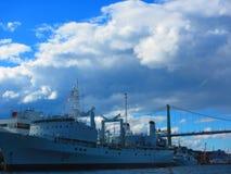 Militär skepphalifax hamn Royaltyfria Bilder