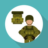 Militär-soldat Design, Vektorillustration Stockbilder