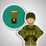 Militär soldatdesign, vektorillustration Royaltyfria Bilder