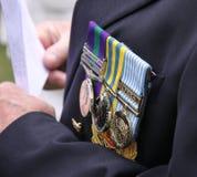 Militär spricht Medaillen zu Stockbild