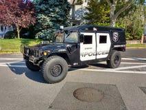 Militär stil HV-1 Hummer, Rutherford Police Emergency Vehicle Arkivbilder