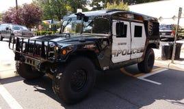 Militär stil HV-1 Hummer, Rutherford Police Emergency Vehicle Royaltyfria Foton