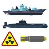 Militär stridighet för försvar för harnesk för teknik för skepp och för bransch för teknikarmékrig kämpar vektorn stock illustrationer