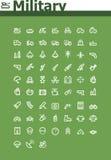 Militär symbolsuppsättning Arkivfoto