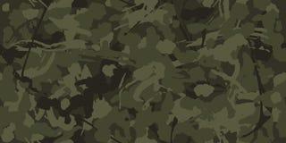 Militär tarnt, die nahtlosen masert Wiederholungen Camo-Muster für Armee-Kleidung lizenzfreie abbildung