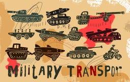 Militär transport Royaltyfria Foton