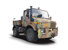 Militär-Unimog-LKW Lizenzfreie Stockfotos