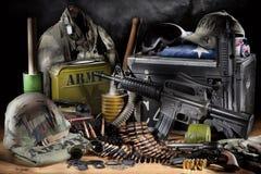 Militär utrustning royaltyfri foto