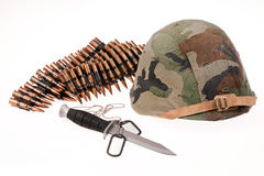 Militär utrustning royaltyfri bild