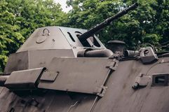 Militär utställning i Warszawa Arkivbilder